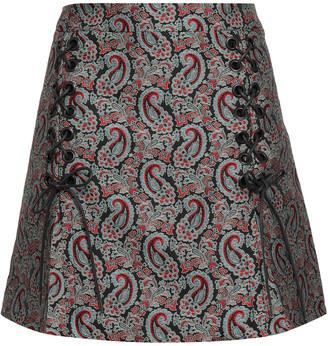 ALEXACHUNG Cotton-blend Jacquard Mini Skirt