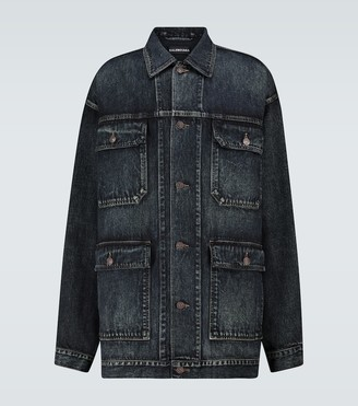 Balenciaga Over-dyed Japanese denim jacket