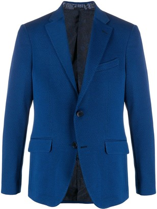 Etro Single Breasted Jersey Blazer