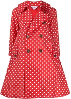 Comme des Garcons polka dot flared trench coat