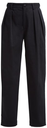 Koché Lace Side-stripe Cotton-blend Trousers - Black