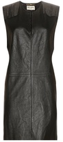 Saint Laurent Embellished Leather Mini Dress