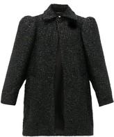 Balenciaga Raised-shoulder Boucle Lurex Coat - Womens - Black
