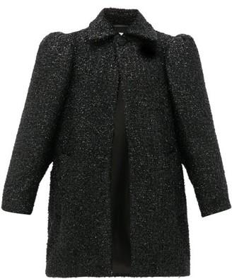 Balenciaga Raised-shoulder Boucle Lurex Coat - Black
