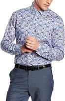 Venti Men's Slim Fit Classic Long Sleeve Formal Shirt Blue Blau (blau 100) Kragenweite: