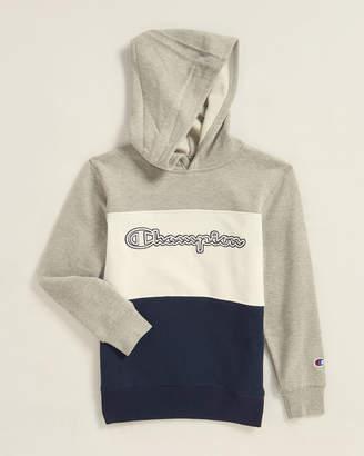 Champion Boys 8-20) Color Block Script Logo Hoodie