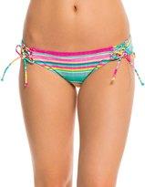 Hobie Salt Air Stripe Lace Up Hipster Bikini Bottom 8140331