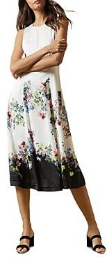 Ted Baker Camylle Pergola Print Belted Midi Dress