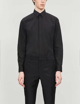 Fendi Eyes-applique collared cotton shirt