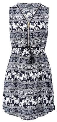 Dorothy Perkins Womens *Izabel London Multi Colour Elephant Print Zip Front Dress