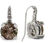 Stephen Dweck Cognac Quartz Floral Drop Earrings