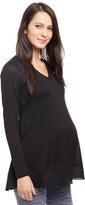 Motherhood Tie Front Maternity Tunic