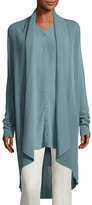 Eileen Fisher Tencel® Draped-Front Long Cardigan