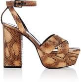 Saint Laurent Women's Farrah Python Platform Sandals