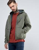 Patagonia Quilted Hooded Jacket In Green