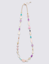 M&S Collection Shell Rope Necklace