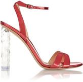 Gianvito Rossi Mirrored-leather sandals