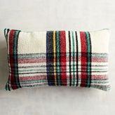 Pier 1 Imports Stewart Plaid Ivory Chenille Lumbar Pillow