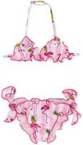 MC2 Saint Barth Kids Cris flamingo-pineapple print bikini