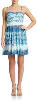 GUESS Abstract Print A-Line Dress