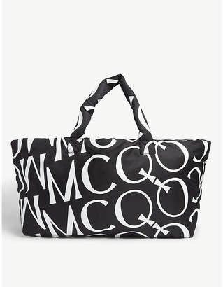 McQ Inside Out logo-printed nylon tote
