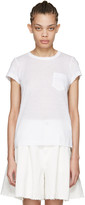Sacai White Striped Panels T-Shirt