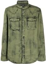 Balmain acid-wash denim shirt