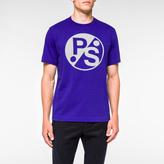 Paul Smith Men's Purple 'PS Logo' Print Supima-Cotton T-Shirt