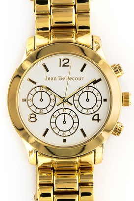 Jean Bellecour Unisex Analogue Classic Quartz Watch with Stainless Steel Strap REDS10-GW