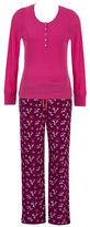 Jasmine Rose Two-Piece Henley Tee and Deer Graphic Pants Pyjama Set