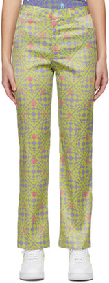 MAISIE WILEN Green and Purple Nebula Trousers