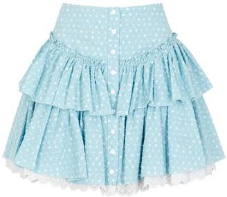 Marc Jacobs The Prairie printed cotton-blend mini skirt