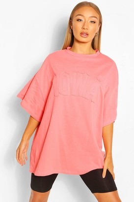 boohoo Iowa Applie Oversized T-Shirt
