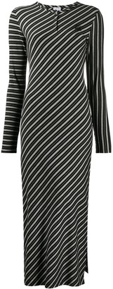 Loewe Diagonal-Stripe Midi Dress