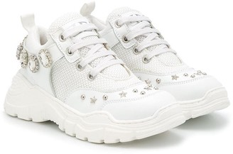 Ermanno Scervino TEEN stud-embellished chunky sneakers