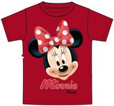 Disney Minnie Mouse Girls Big Face T Shirt - Red Florida Print M