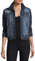Berek Blues Temptation Lace & Denim Jacket, Petite