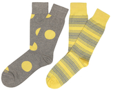 Etiquette Clothiers Big Dot and Tokyo Stripes Mercerized Socks (2 PK)