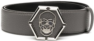 Philipp Plein Skull Detail Belt