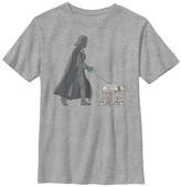 Fifth Sun Boys' Tee Shirts ATH - Star Wars Athletic Heather Darth Vader Walker Tee - Boys