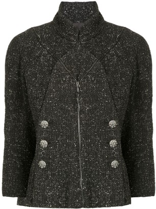 Chanel Pre Owned Double Breasted Tweed Jacket