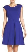 Vince Camuto Petite Women's Ponte Fit & Flare Dress
