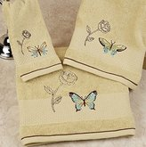 """""""Butterfly Bliss"""" Bathroom Shower Collection - Set of 2 Fingertip Towels"""