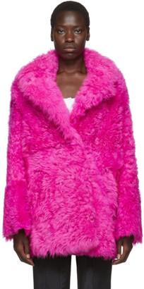 Off-White Pink Fur Kalgan Coat