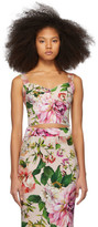 Dolce & Gabbana Pink Floral Charmeuse Tank Top
