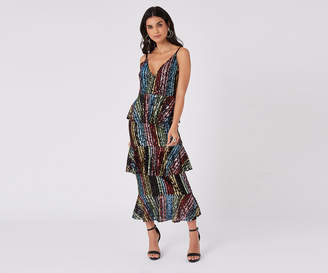 Oasis Rainbow Sequin Midi Dress