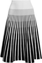 Tomas Maier Striped Jersey Skirt - White