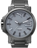 Puma Men's Quartz and Stainless-Steel-Plated Casual Watch, Color:Grey (Model: PU103911004)