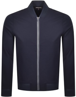 Michael Kors Full Zip Baseball Jacket Navy