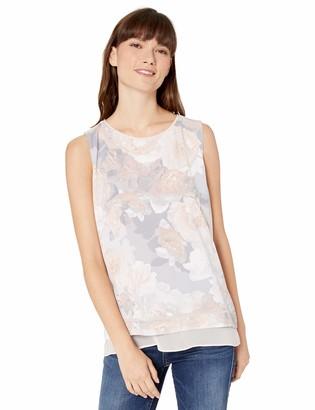 Calvin Klein Women's Sleeveless Printed Layered Top